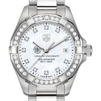 Colgate University W's TAG Heuer Steel Aquaracer with MOP Dia Dial & Bezel