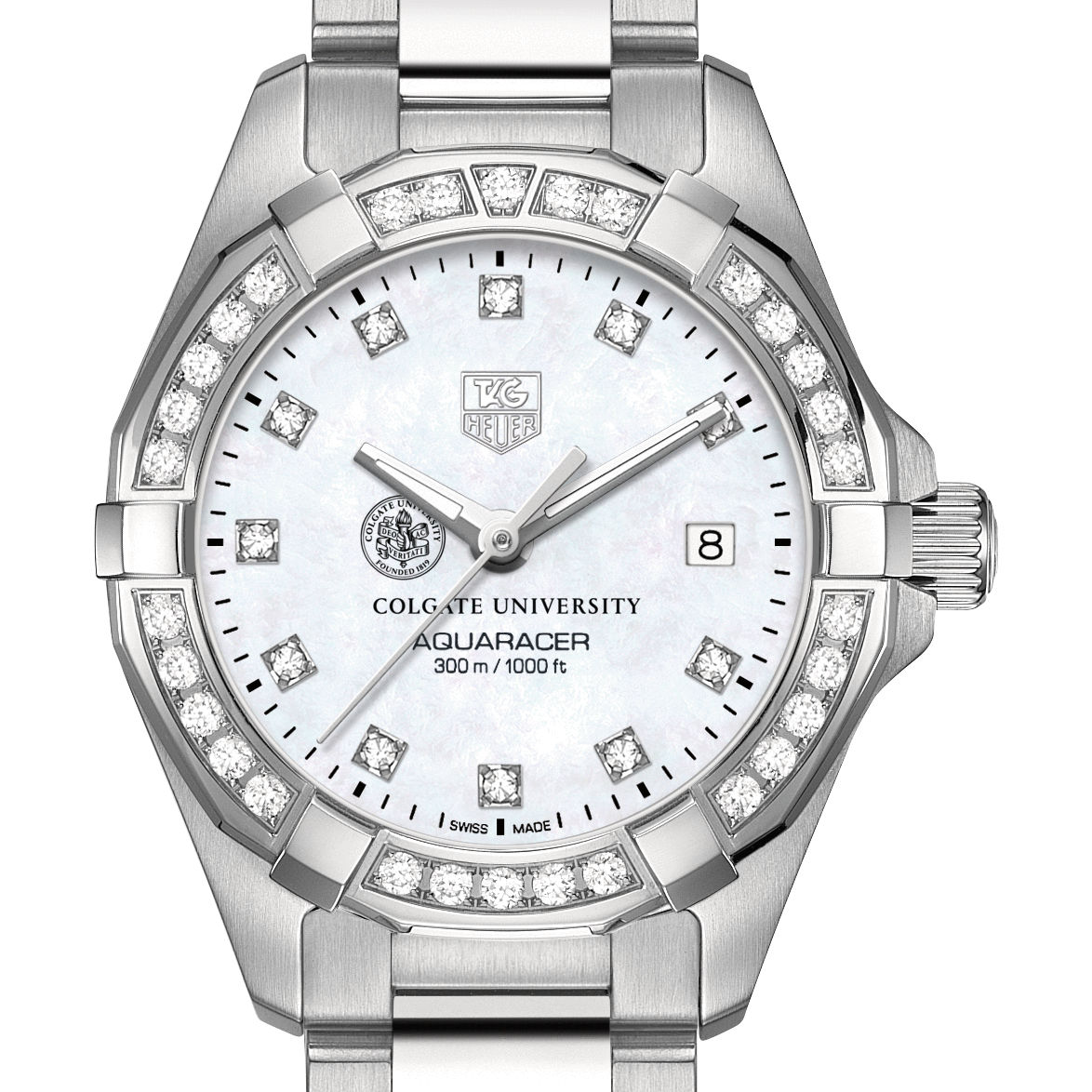 Colgate W's TAG Heuer Steel Aquaracer with MOP Dia Dial & Bezel