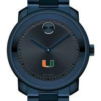 University of Miami Men's Movado BOLD Blue Ion with Bracelet