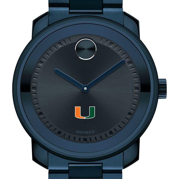 University of Miami Men's Movado BOLD Blue Ion with Bracelet - Image 1