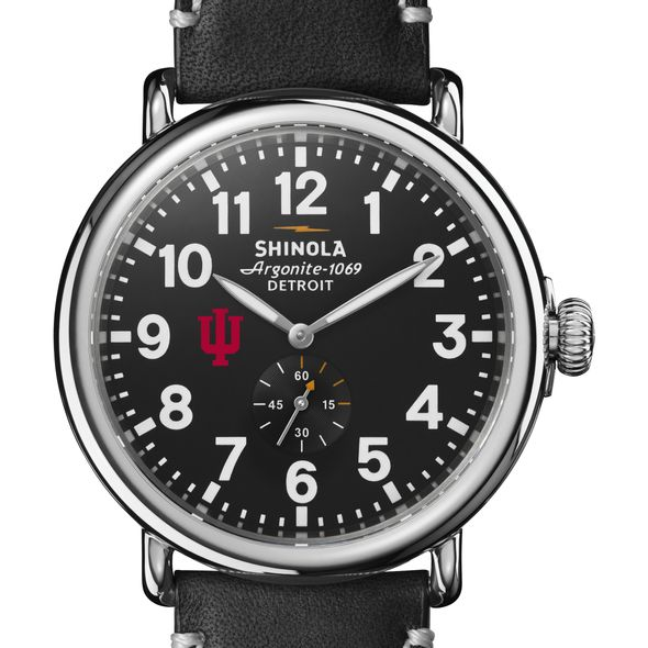 Indiana Shinola Watch, The Runwell 47mm Black Dial