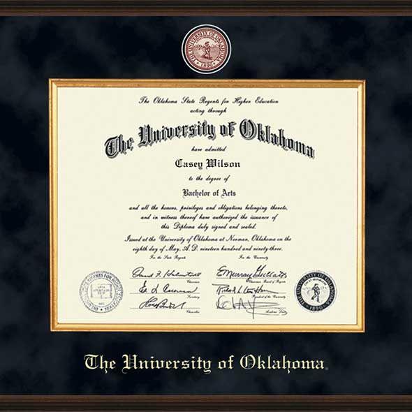 Oklahoma Excelsior Bachelor's/Master's Diploma Frame - Image 2