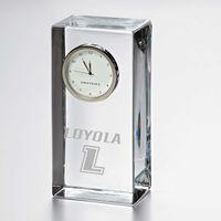 Loyola Tall Glass Desk Clock by Simon Pearce