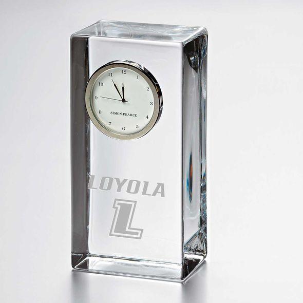 Loyola Tall Glass Desk Clock by Simon Pearce - Image 1