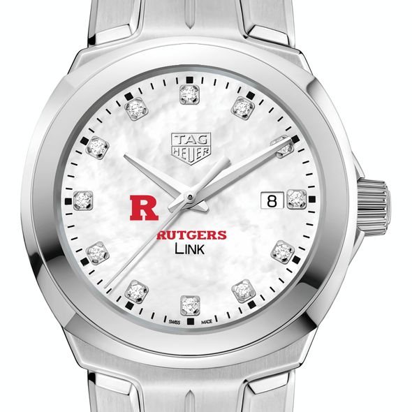 Rutgers University TAG Heuer Diamond Dial LINK for Women