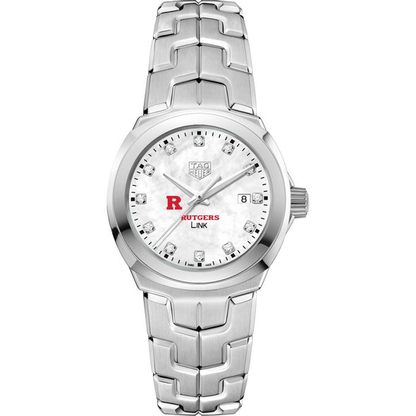Rutgers University TAG Heuer Diamond Dial LINK for Women - Image 2
