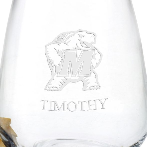University of Maryland Stemless Wine Glasses - Set of 2 - Image 3