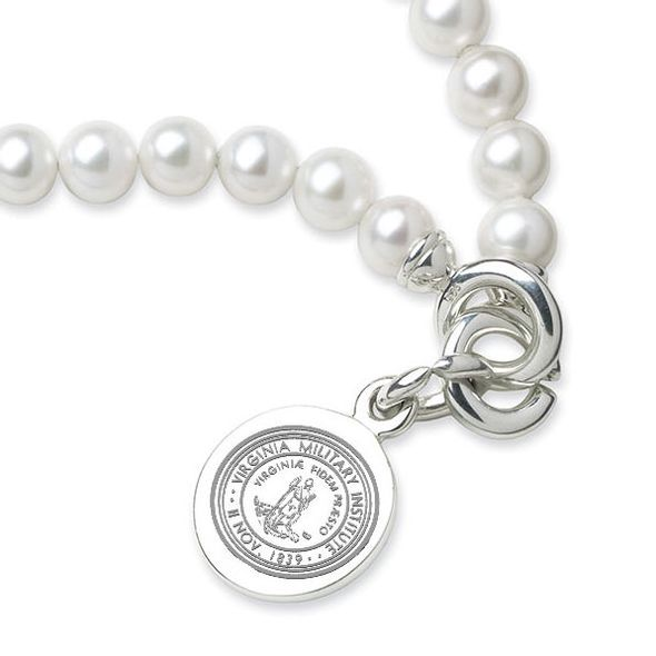 VMI Pearl Bracelet with Sterling Silver Charm - Image 2