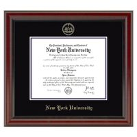 New York University Diploma Frame, the Fidelitas