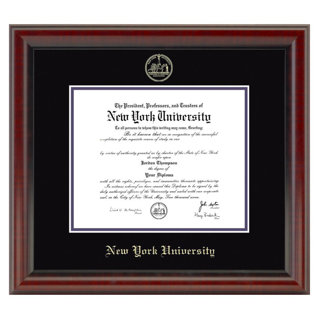 Official New York University Diploma Frame The Fidelitas