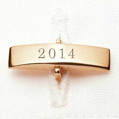 Davidson College 18K Gold Cufflinks - Image 3