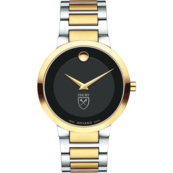 Emory University Men's Movado Two-Tone Modern Classic Museum with Bracelet - Image 2
