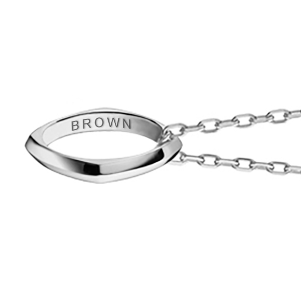 Brown University Monica Rich Kosann Poesy Ring Necklace in Silver - Image 3