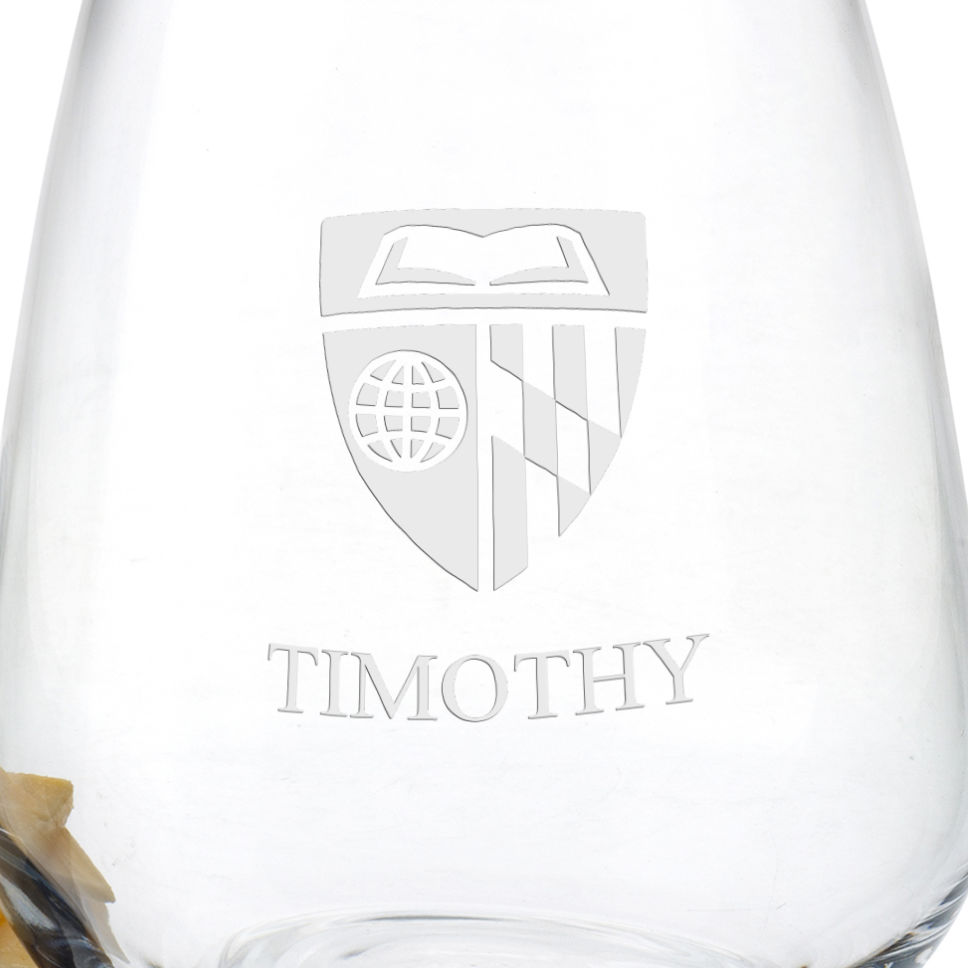 Johns Hopkins University Stemless Wine Glasses - Set of 2 - Image 3