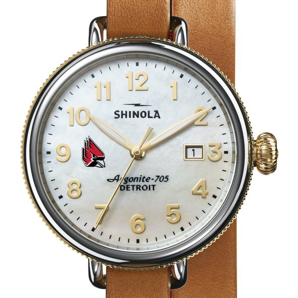 Ball State Shinola Watch, The Birdy 38mm MOP Dial - Image 1