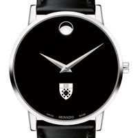 Yale SOM Men's Movado Museum with Leather Strap
