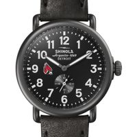 Ball State Shinola Watch, The Runwell 41mm Black Dial