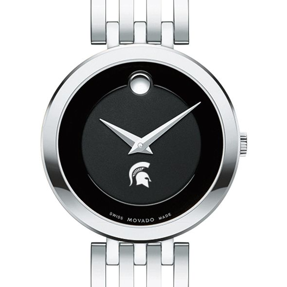 Michigan State University Women's Movado Esparanza Stainless Steel Museum with Bracelet