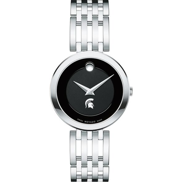 Michigan State University Women's Movado Esparanza Stainless Steel Museum with Bracelet - Image 2