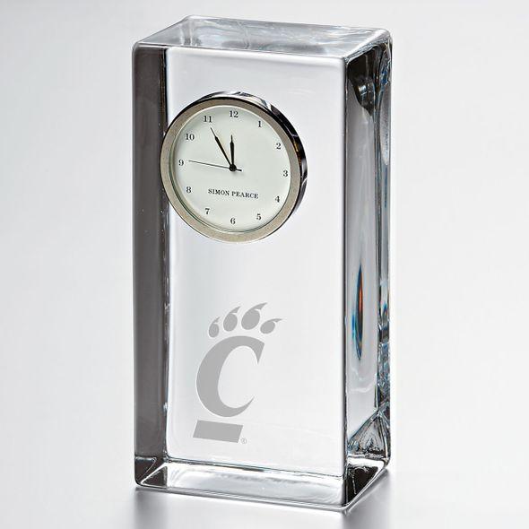 Cincinnati Tall Glass Desk Clock by Simon Pearce - Image 1