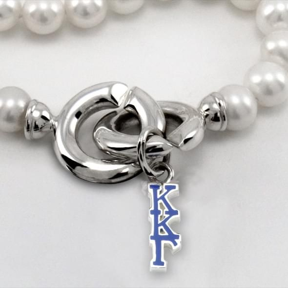 Kappa Kappa Gamma Pearl Necklace with Greek Letter Charm - Image 2