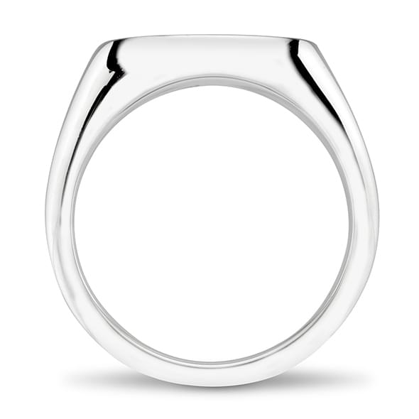 Brown Sterling Silver Oval Signet Ring - Image 4