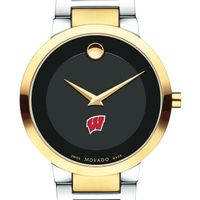 University of Wisconsin Men's Movado Two-Tone Modern Classic Museum with Bracelet