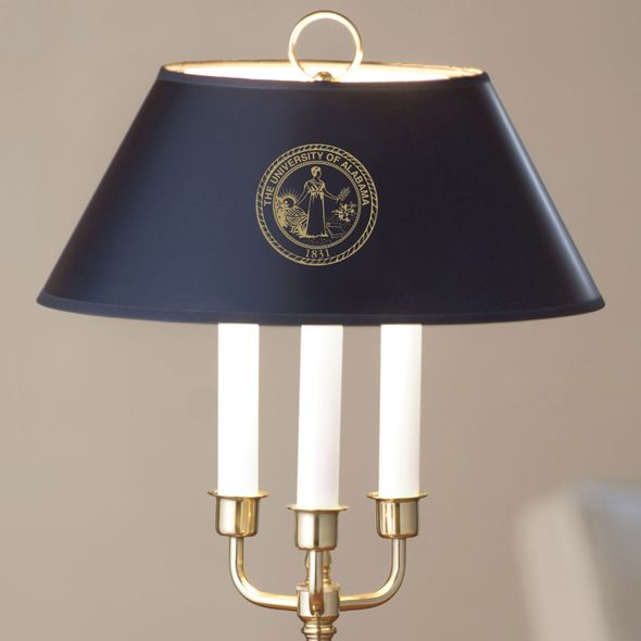 University of Alabama Lamp in Brass & Marble - Image 2