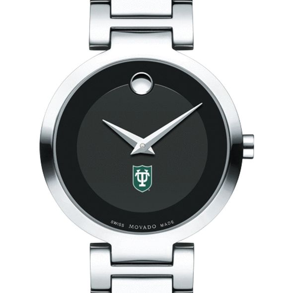 Tulane University Women's Movado Museum with Steel Bracelet