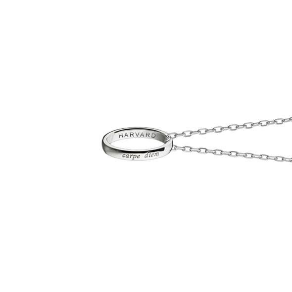 "Harvard Monica Rich Kosann ""Carpe Diem"" Poesy Ring Necklace in Silver - Image 3"