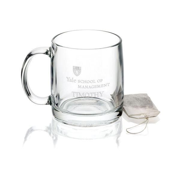Yale School of Management 13 oz Glass Coffee Mug - Image 1