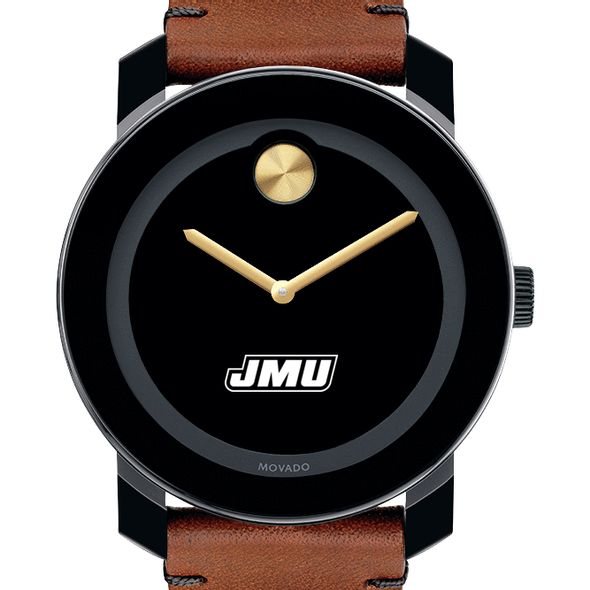 James Madison University Men's Movado BOLD with Brown Leather Strap