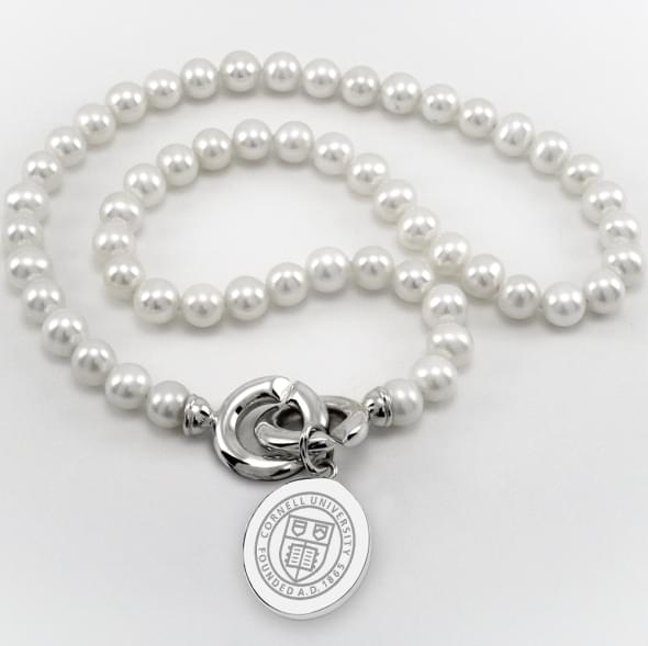 Cornell Pearl Necklace with Sterling Silver Charm