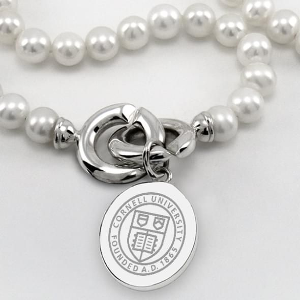 Cornell Pearl Necklace with Sterling Silver Charm - Image 2