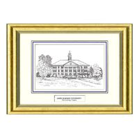 James Madison Black Ink Gold Frame