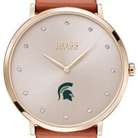 Michigan State University Women's BOSS Champagne with Leather from M.LaHart
