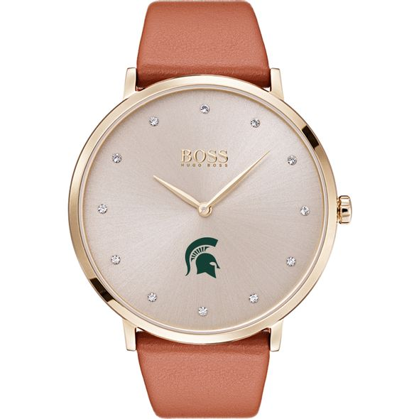 Michigan State University Women's BOSS Champagne with Leather from M.LaHart - Image 2