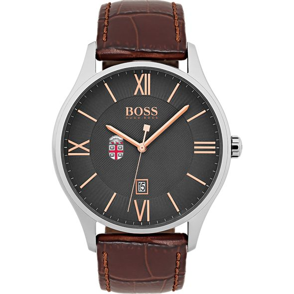 Brown University Men's BOSS Classic with Leather Strap from M.LaHart - Image 2