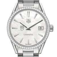 Emory University Women's TAG Heuer Steel Carrera with MOP Dial & Diamond Bezel