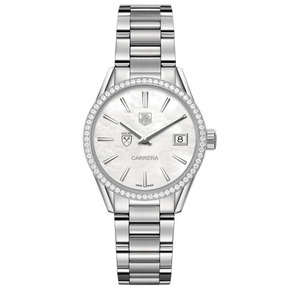 Emory University Women's TAG Heuer Steel Carrera with MOP Dial & Diamond Bezel - Image 2