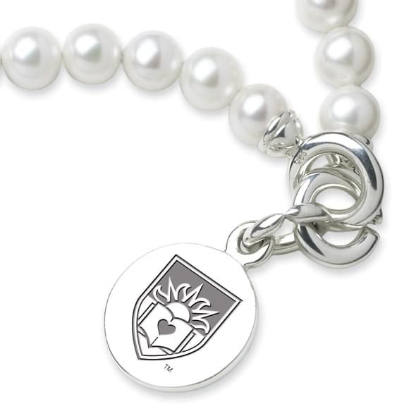 Lehigh Pearl Bracelet with Sterling Silver Charm - Image 2
