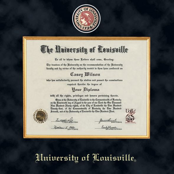 University of Louisville Diploma Frame - Excelsior - Image 2