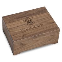 College of William & Mary Solid Walnut Desk Box