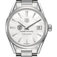Cornell University Women's TAG Heuer Steel Carrera with MOP Dial