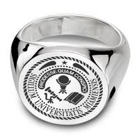 Miami University Sterling Silver Round Signet Ring