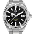 University of Wisconsin Men's TAG Heuer Steel Aquaracer with Black Dial - Image 1