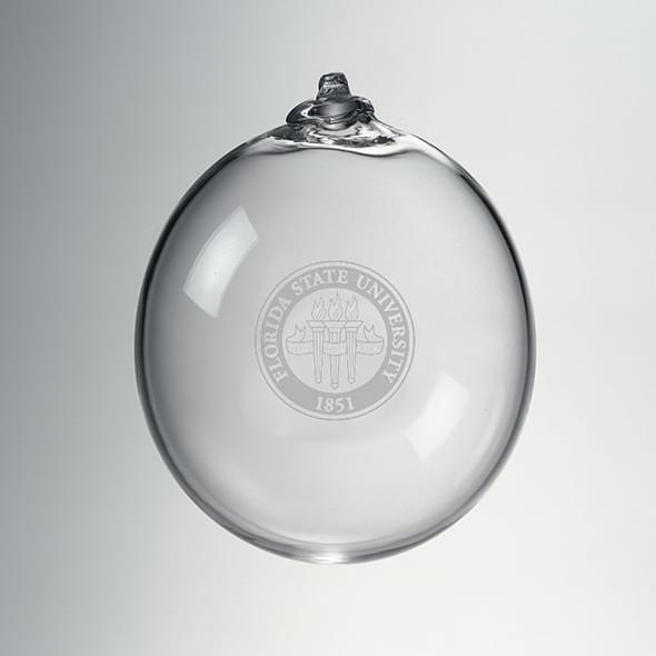 Florida State Glass Ornament by Simon Pearce