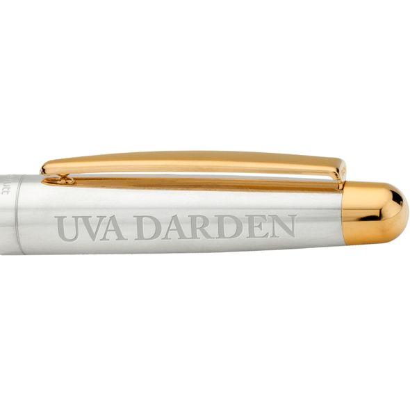 UVA Darden Fountain Pen in Sterling Silver with Gold Trim - Image 2