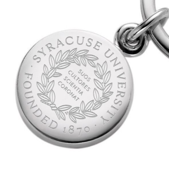 Syracuse University Sterling Silver Insignia Key Ring - Image 2