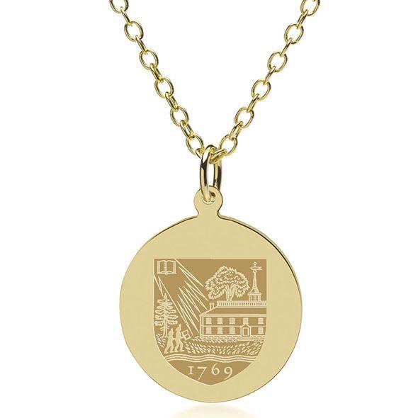 Dartmouth College 18K Gold Pendant & Chain - Image 1